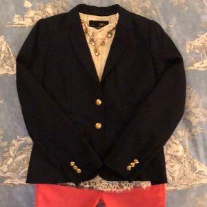 J. Crew Navy Wool Schoolboy Gold Button Blazer